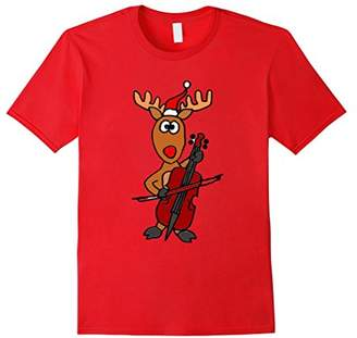 Smiletodaytees Christmas Reindeer Playing Cello T-shirt
