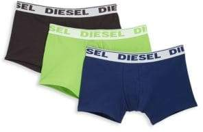 Diesel Three-Pack Stretch Cotton Trunks