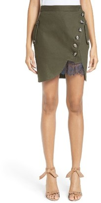 Women's Self-Portrait Utility Miniskirt $375 thestylecure.com