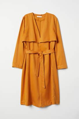 H&M Lyocell Trenchcoat - Yellow