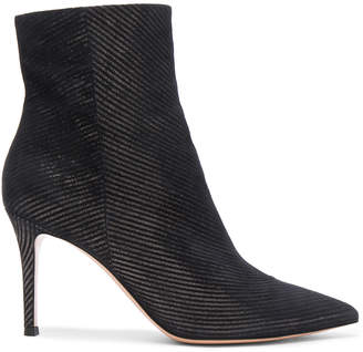 Gianvito Rossi Metallic Pinstripe Booties