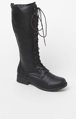 NYLA Shoes Lace-Up Tall Combat Boots $80 thestylecure.com