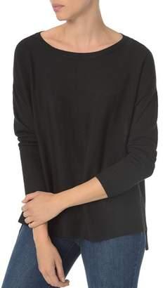 NYDJ Drop Shoulder Split Back Sweater