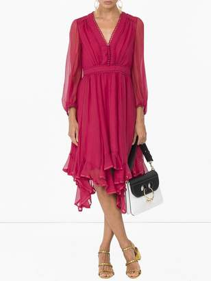 Chloé Ruffle-hem dress