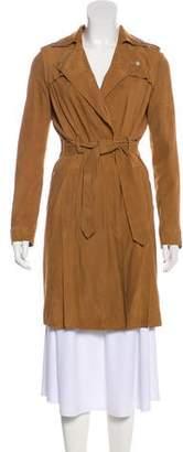 AllSaints Suede Knee-Length Coat