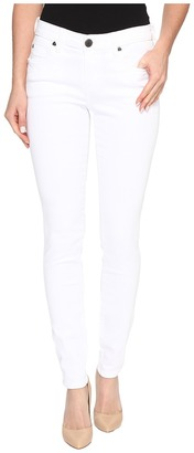 KUT from the Kloth - Mia Toothpick Skinny in Optical White Women's Jeans $79 thestylecure.com