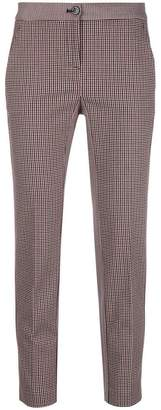 Pinko houndstooth print cropped trousers
