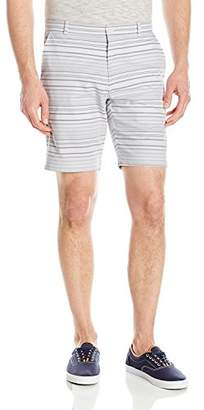 "Calvin Klein Men's 9"" Herringbone Horizontal Stripe Short"
