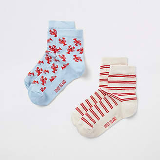 River Island Boys lobster print novelty socks multipack
