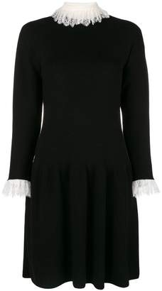 Philosophy di Lorenzo Serafini lace-trim sweater dress