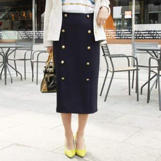 Vicky (ビッキー) - VICKY ツイードボタン使いタイトスカート