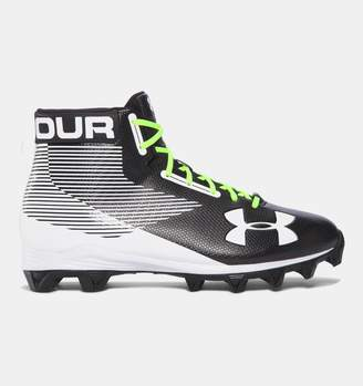 Under Armour Mens UA Hammer Mid Rubber Molded Football Cleats