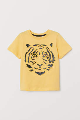 H&M T-shirt with Motif - Yellow