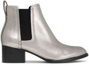 Rag & Bone Metallic Leather Ankle Boots
