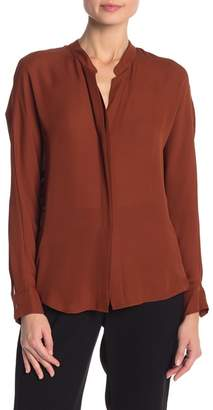 Vince Double Front Layer Silk Blouse