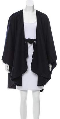 Donni Charm Wool Colorblock Poncho