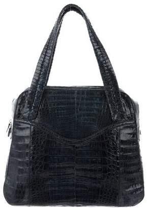 Nancy Gonzalez Crocodile Bowler Bag