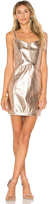 For Love & Lemons Luna Metallic Dress in Metallic Gold $167 thestylecure.com