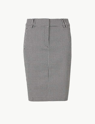 Marks and Spencer PETITE Checked Pencil Skirt