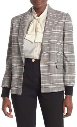 Ted Baker Contrast Cuff Checkered Blazer