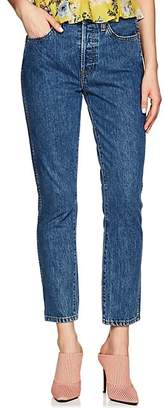 RE/DONE Women's Double Needle Crop Jeans - Blue
