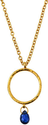 Gurhan 22k Gold Captiva Circle Sapphire Pendant Necklace