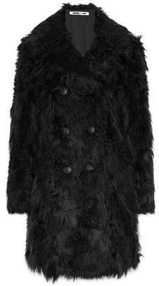 McQ Double-Breasted Faux Fur Coat