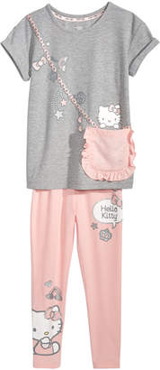 Hello Kitty Little Girls 3-Pc. Purse T-Shirt & Leggings Set