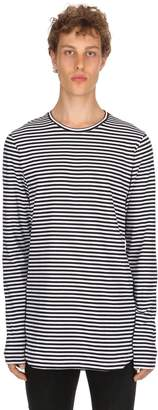 Diesel Black Gold Oversize Striped Cotton Jersey T-Shirt