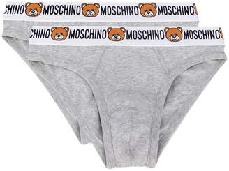 Moschino pack of 2 teddy logo briefs