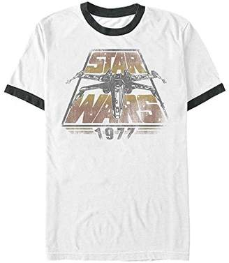 Star Wars Men's Official 'Space Travel' Premium Ringer Graphic Tee