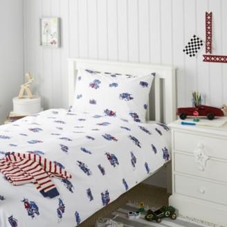 The White Company Grand Prix Bed Linen, White, Cot Bed