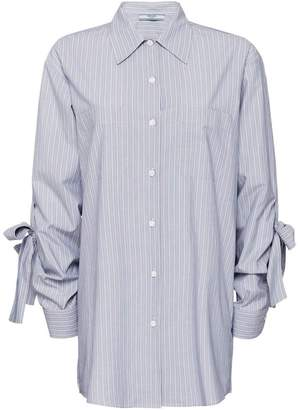 Prada striped chambray shirt