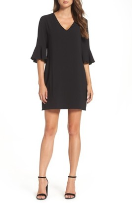 Women's Charles Henry Ruffle Sleeve Shift Dress $98 thestylecure.com