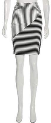 Rebecca Minkoff Striped Knee-Length Skirt