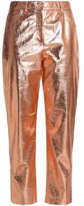 M Missoni Cracked Lamé Straight-Leg Pants