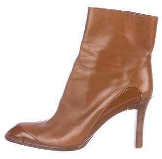 Tod's Leather Pointed-Toe Ankle Boots