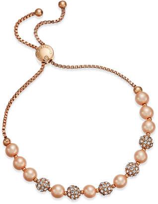 Charter Club Pave & Imitation Pearl Slider Bracelet
