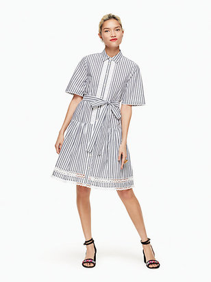 Stripe lace inset shirtdress $278 thestylecure.com