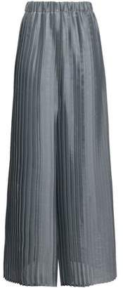 Brunello Cucinelli Pleated Organza Wide-leg Pants