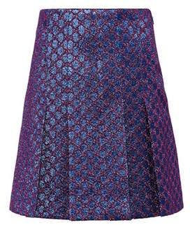 Gucci GG brocade pleated miniskirt