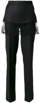 Givenchy lace overlay tailored trousers