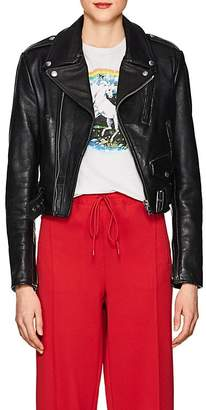 RE/DONE Women's Distressed Leather Moto Jacket