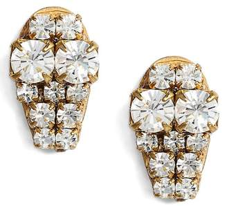SANDY HYUN Graduated Crystal Stud Earrings