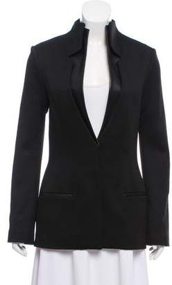 Cushnie et Ochs Long Sleeve Leather Accented Blazer w/ Tags