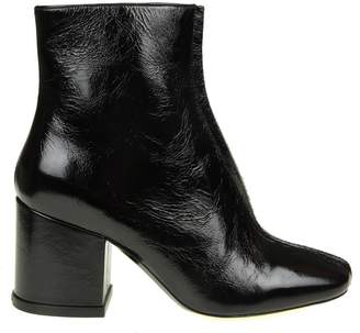 Kenzo daria Ankle Boots In Black Color Leather