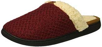 Dearfoams Women's Wide Width Textured Knit Closed Toe Scuff Slipper