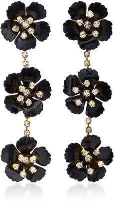 Jennifer Behr Belinda Gold-Plated Swarovski Crystal Earrings