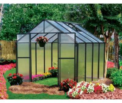 Riverstone Industries Riverstone Monticello Black 8-Foot x 8-Foot Residential Greenhouse in Black