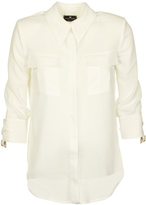 Elisabetta Franchi Celyn B. Three-quarter Sleeves Blouse With Pockets